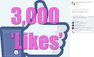 3,000 Likes on Facebook