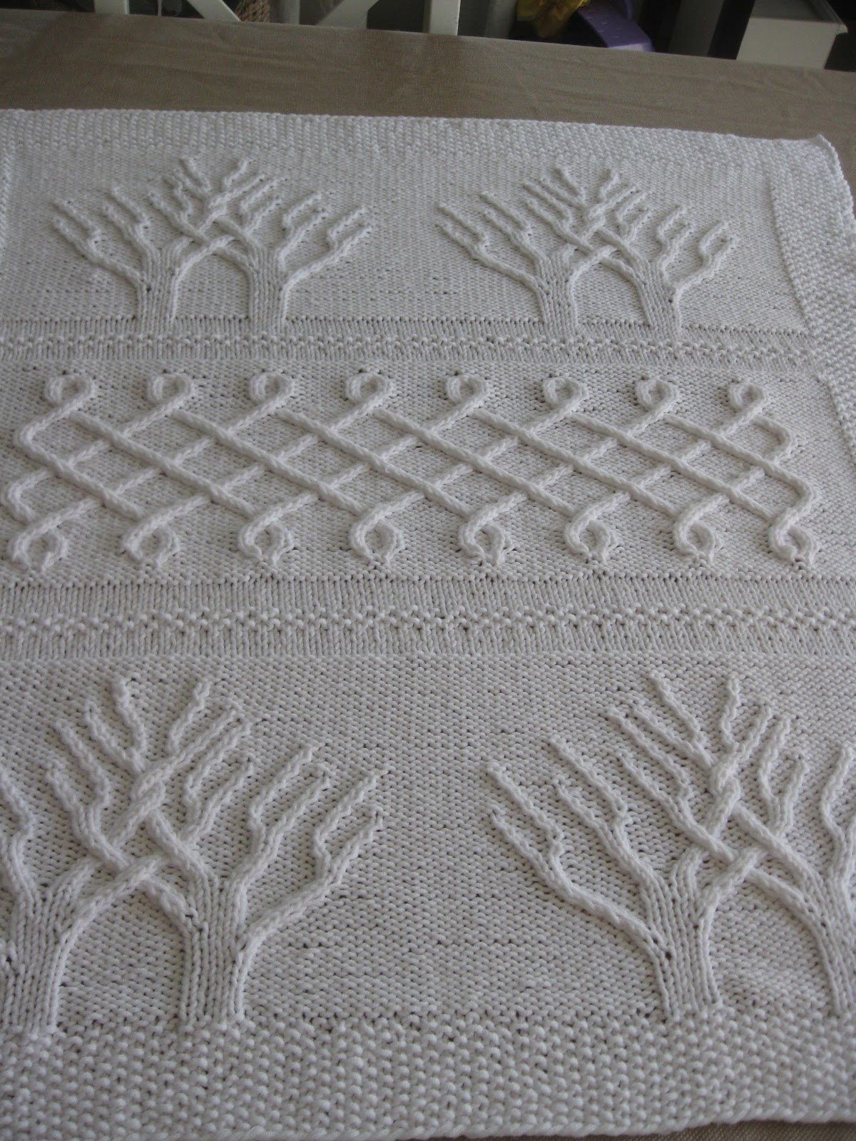 Tree Of Life Knitting Pattern Blanket : Of Wool and Loveliness: For Twins: The Tree of Life Afghan