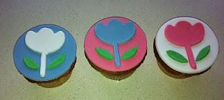 Cupcakes con Flores para Fiestas Infantiles, parte 1