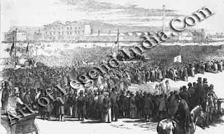 Chartists of the Common On 10 April 1848, more than a quarter of a million people met on Kennington Common in London to support the Chartist movement, campaign for representation in parliament for working people. In spite of massive support and a just cause, the movement was harshly repressed, and participants were jailed or deported.