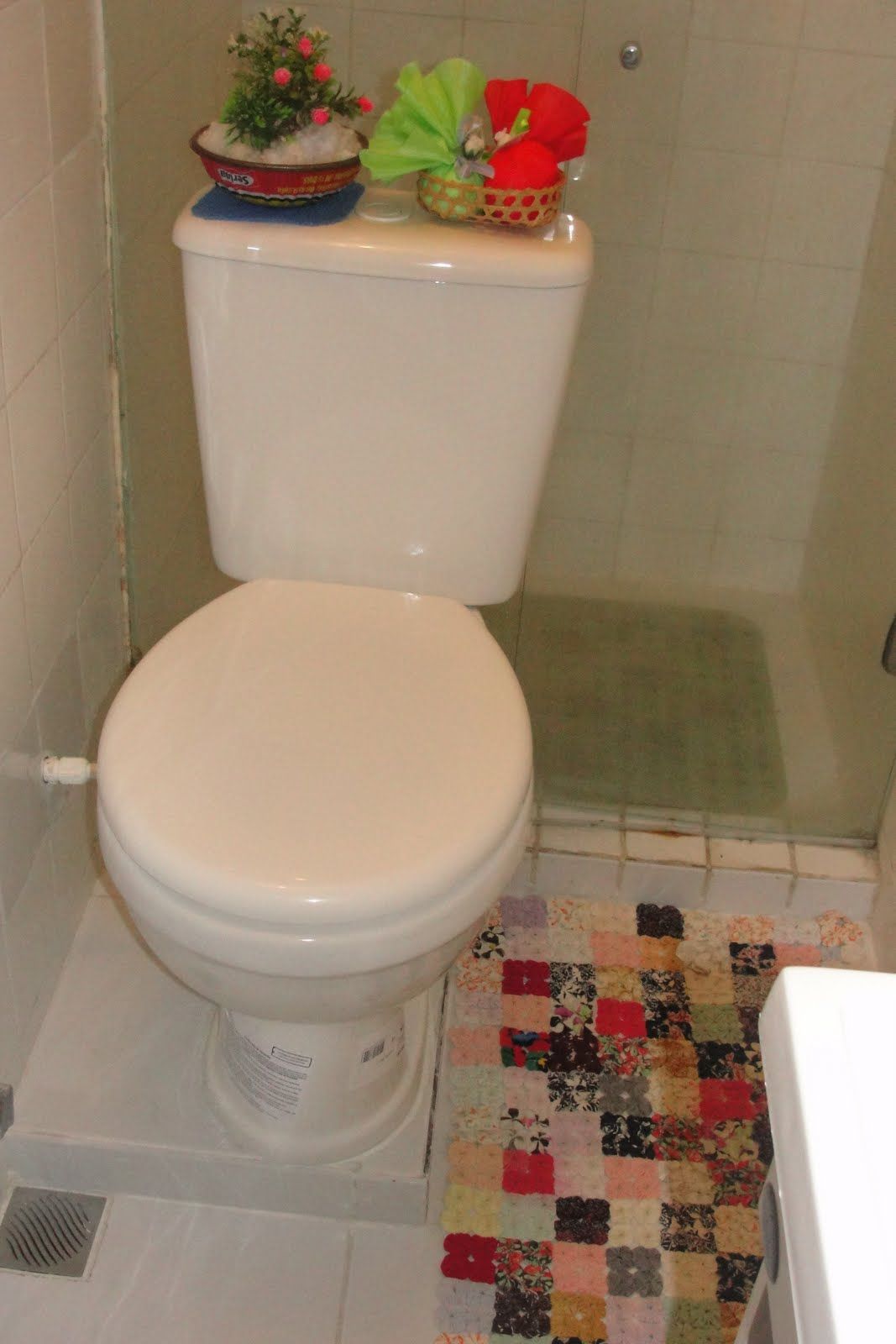 banheiro das serviçais troquei a Bacia Sanitária por essa com caixa  #B81314 1067x1600 Banheiro Acessível Com Caixa Acoplada