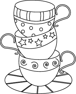 teacup coloring pages to print - shawkl mug rug and embroidery design