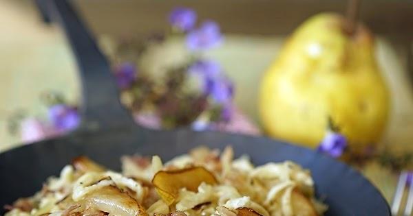 Kraut-Spätzle-Pfanne mit Speck und Birne