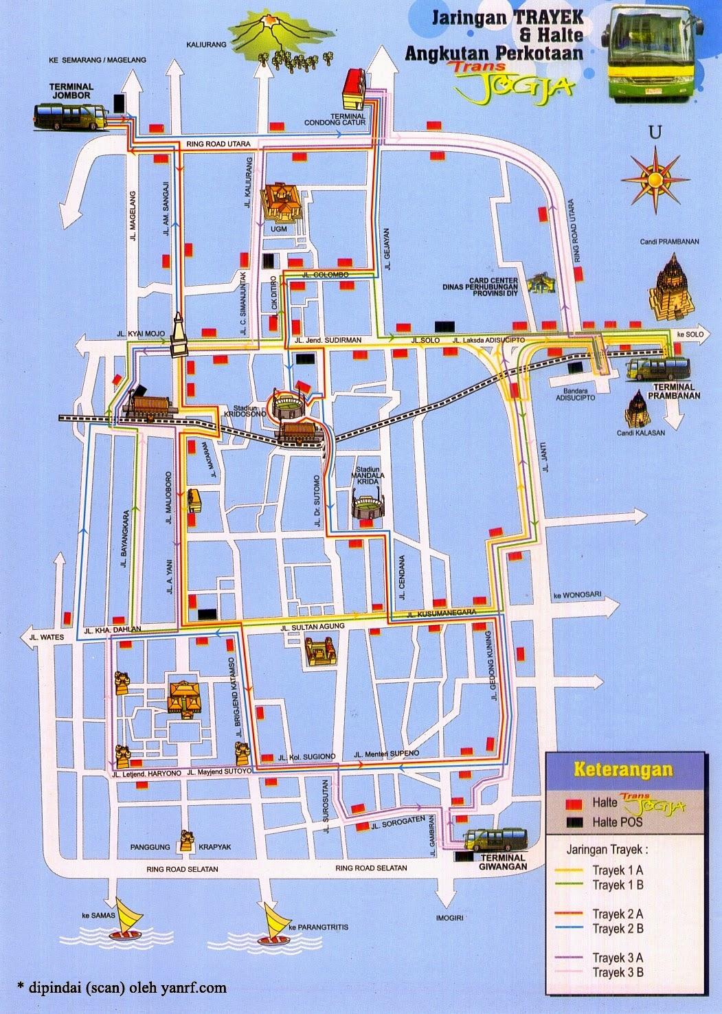 gambar peta trayek jogja