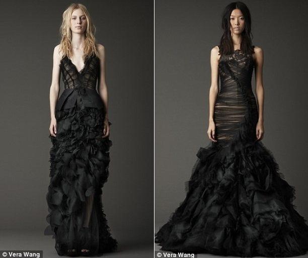 Robes de mariée par Vera Wang Noirs: belles ou gras