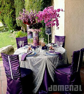 Wedding decoration, saloons Decorations in Purple