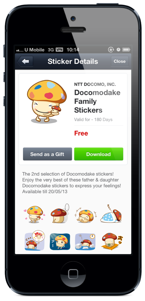 Docomodake Family Stickers