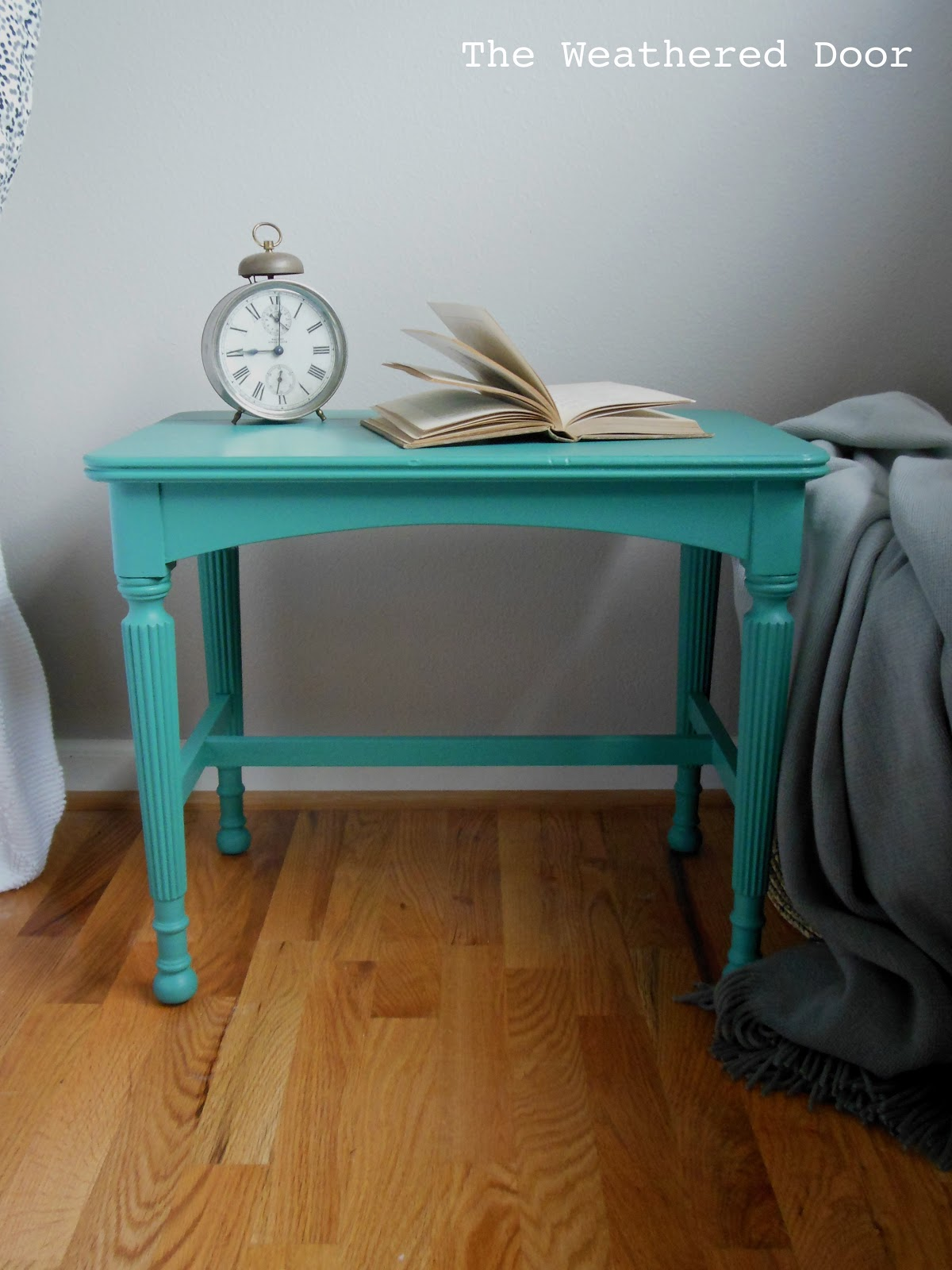 Small Teal Bench The Weathered Door