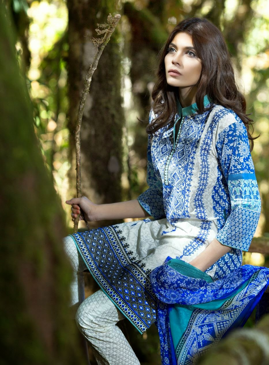 Sana Safinaz Latest Lawn Prints Collection 2015