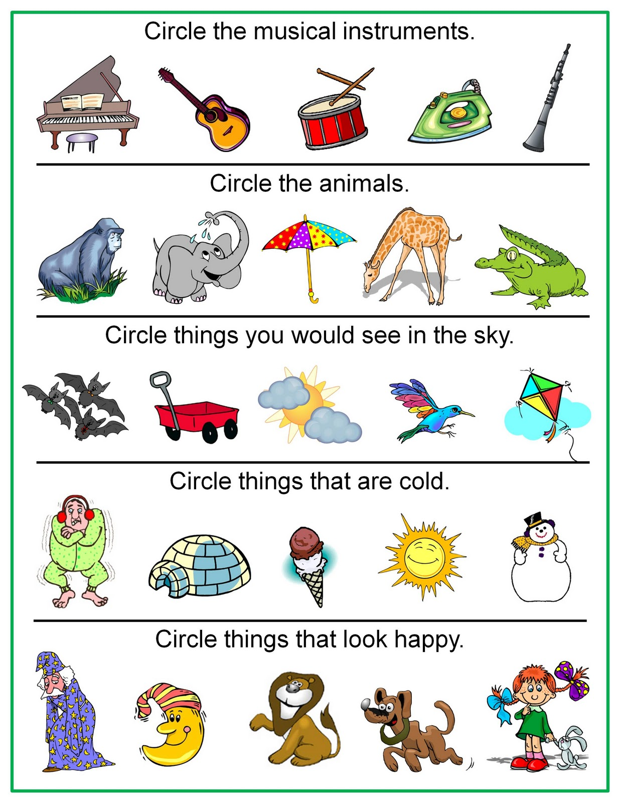 worksheet Sorting Worksheets For Kindergarten sorting worksheets for kindergarten abitlikethis describing objects worksheet images frompo