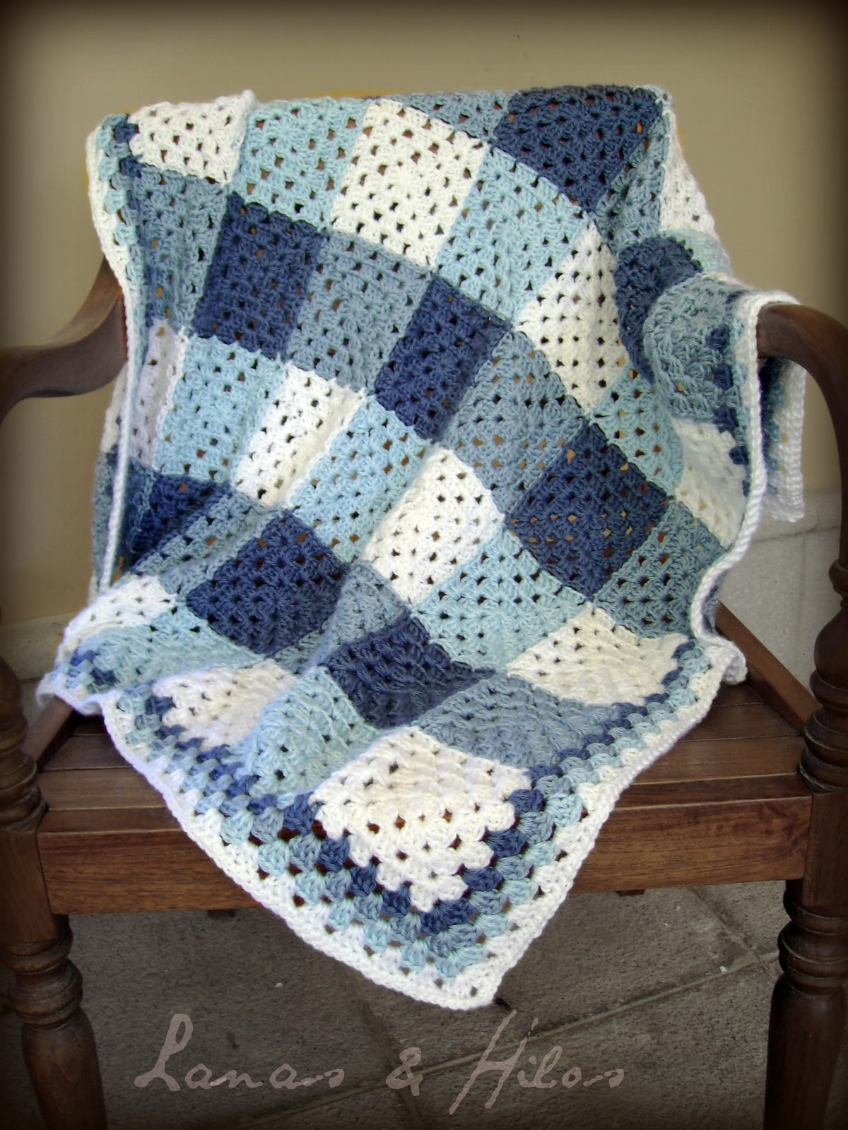 Crochet Patterns Granny Square Afghan : FRAZADA GRANNYESTILO ESCOCES