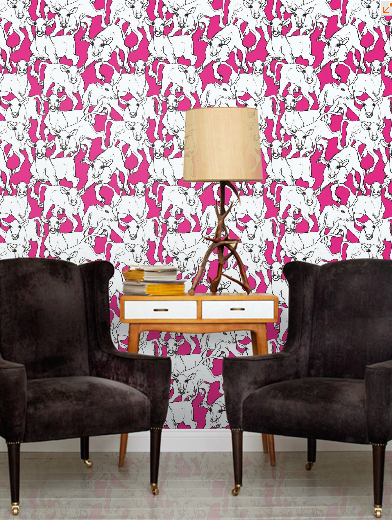 Domestic Sluttery: Wallpaper Wednesday: Marimekko Cows