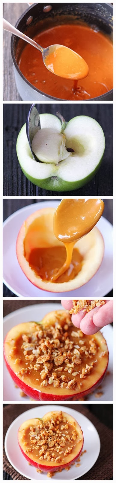 Inside-Out Caramel Apples