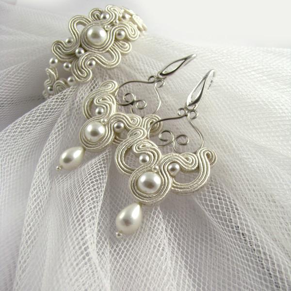 Delikatna biżuteria ślubna sutasz ivory