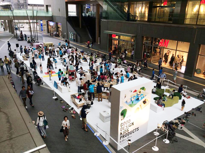 """Exhibition curated by ACTUS & milk Japan """"Good Design Kids Products"""". in tokyo"""