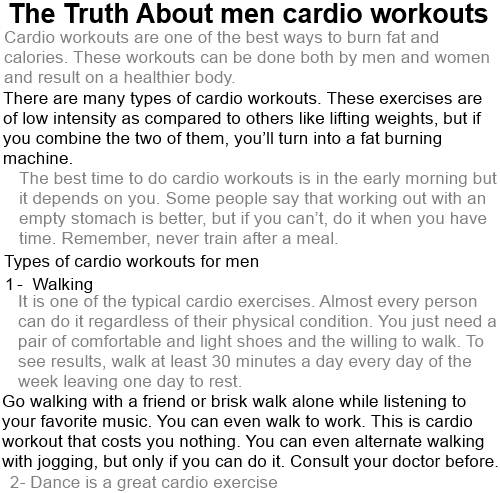 best cardio exercises