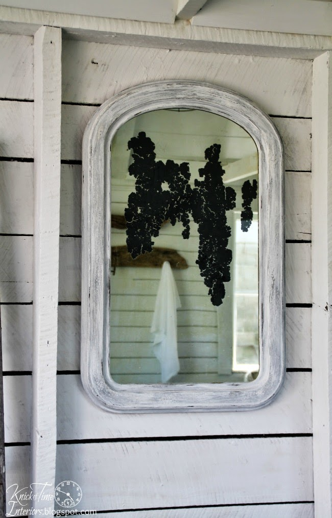 Antique Mirror in a Farmhouse Guest Room | www.knickoftime.net