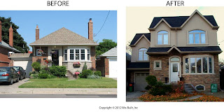 Before and After Second Storey Addition, by wobuilt.com