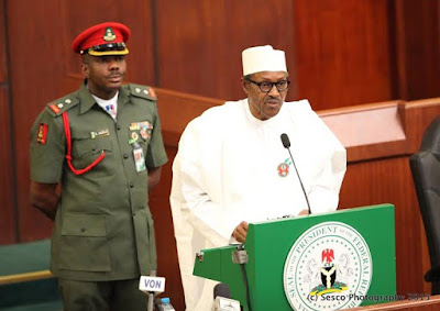 buhari gives 2016 budget