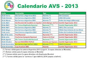 Calendario de torneos 2013