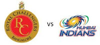 IPL T20 Live Streaming 2013 HD Video Score: Watch Indian Premier League 2nd match Royal Challengers Bangalore vs Mumbai Indians Cricket Twenty 20.
