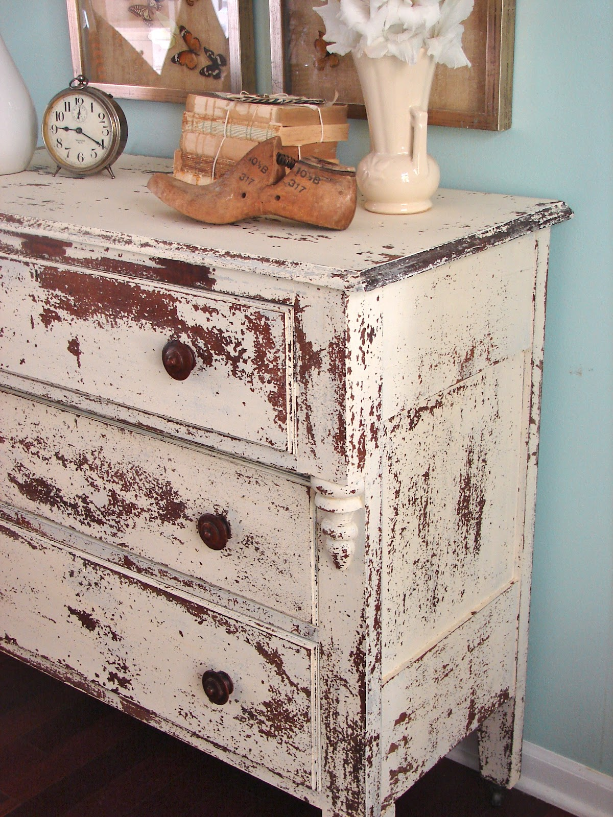 Tattered tiques milk paint love for Painting over lead paint on furniture