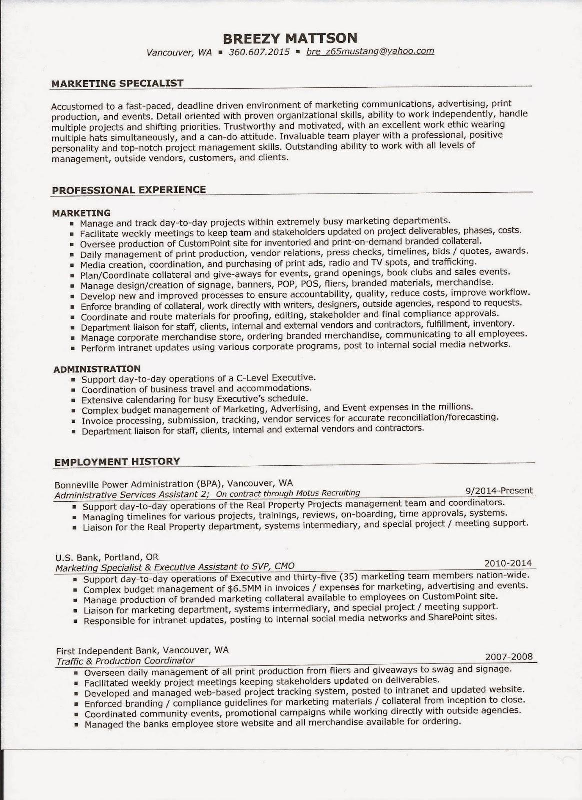 Say Detail Oriented Resume