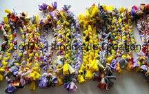 2 Handmade Braided Fleece Dog Pull Toys by Jody's Handmade Creations