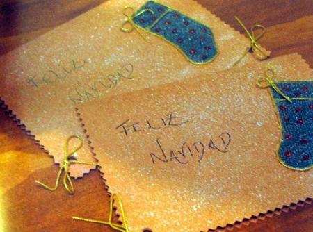 Tarjeta navide a con yute dise os - Postales navidad faciles de hacer ...