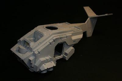 Fuselaje imprimado de la Stormraven
