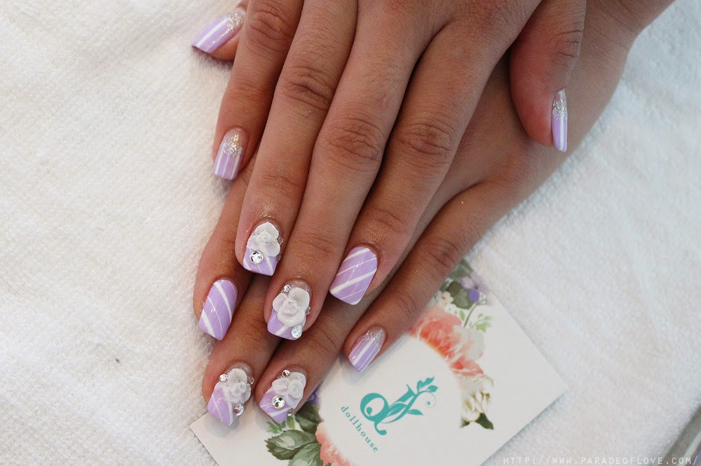 Dollhouse Nails – Lilac Floral x Stripes Nails: Review – Roanna Tan ...