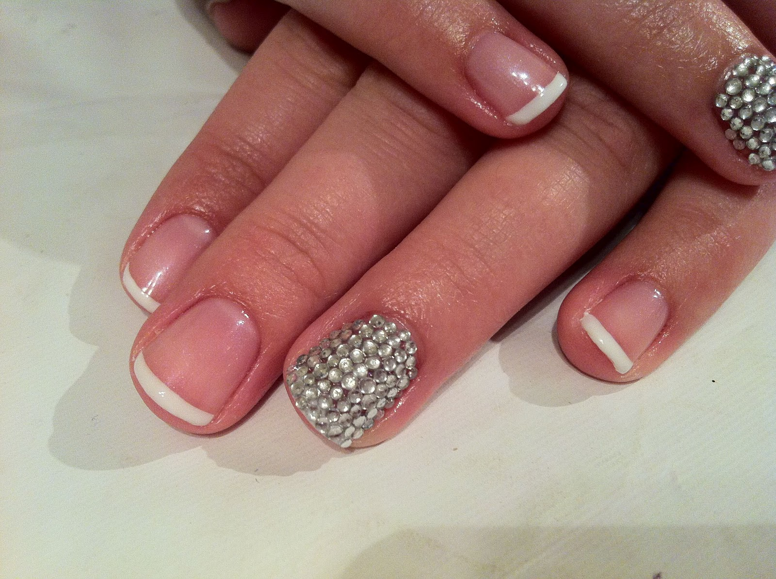 and Polish up!: CND Shellac Nail Art - French, French & more French