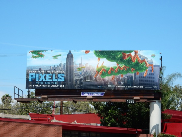 Centipede Pixels The Movie billboard