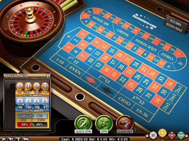 CasinoEuro Roulette Screen