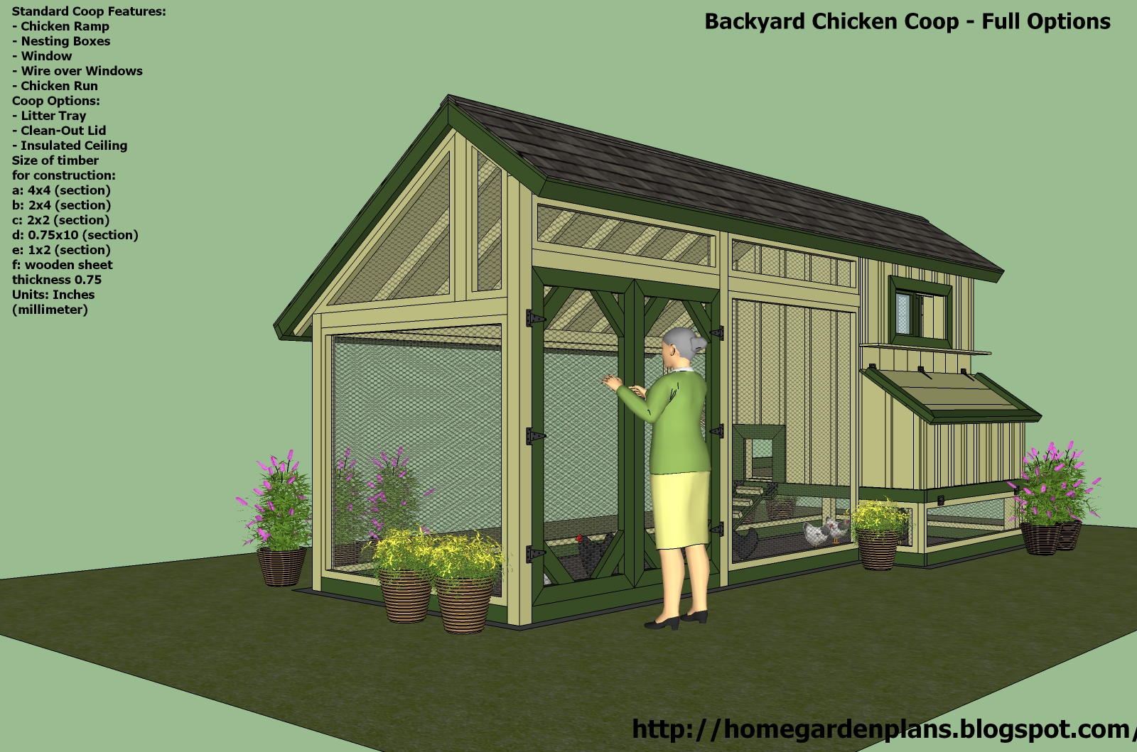 Hens plans chicken coop plans for 12 birds for Plans for a chicken coop for 12 chickens