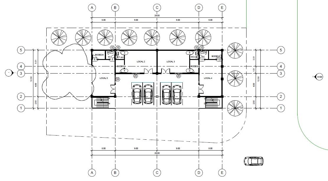 Jupiter muro edificio de departamentos for Planos de locales