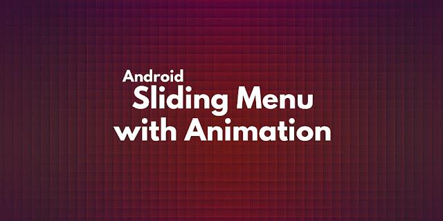 Android sliding menu activity