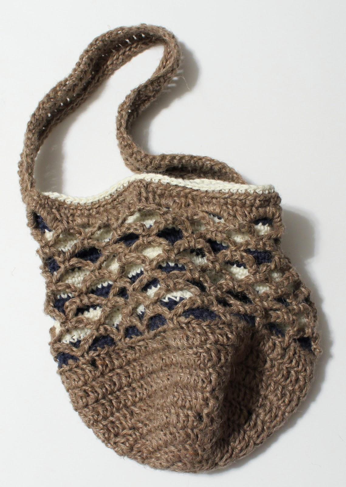 nautical striped jute beach tote bag