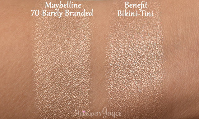 Benefit Cream Eyeshadow Swatches Bikini-Tini