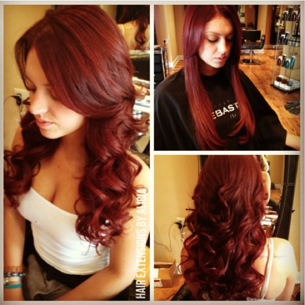 Hotheads Hair Extensions Brookes Rich Red Cherry Custom Extensions