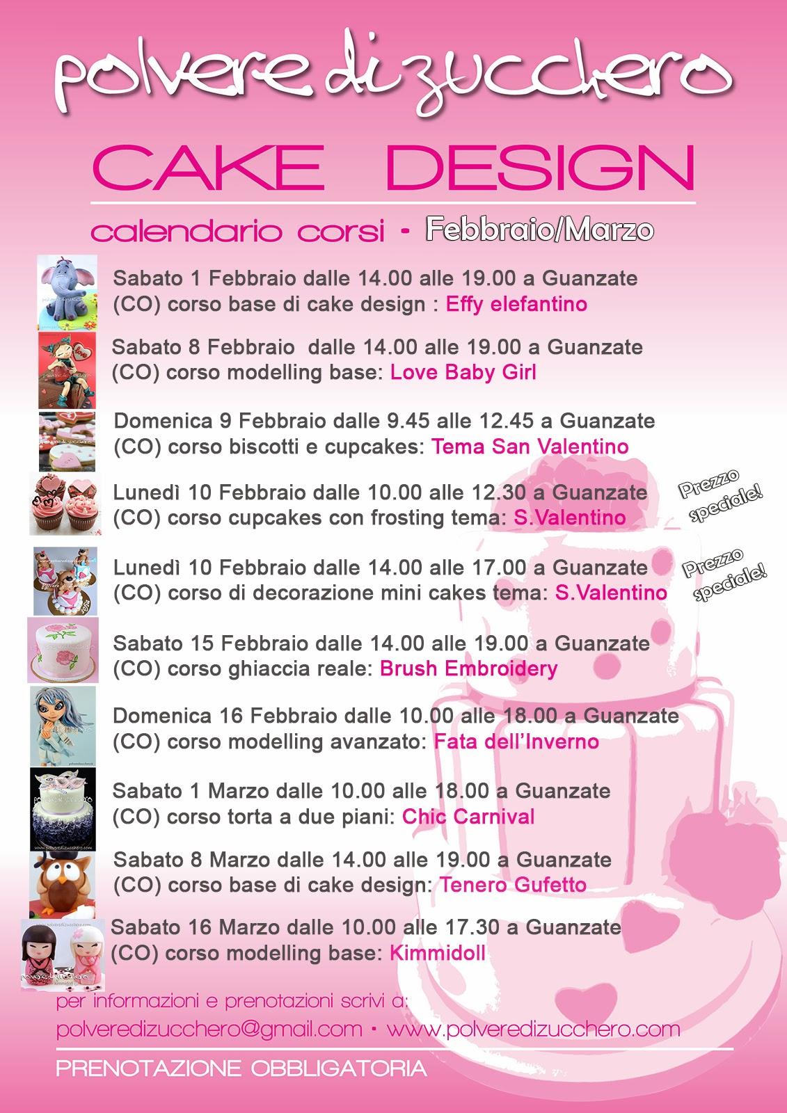 Corsi Cake Design Milano 2018 : Polvere di Zucchero: cake design e sugar art. Corsi ...