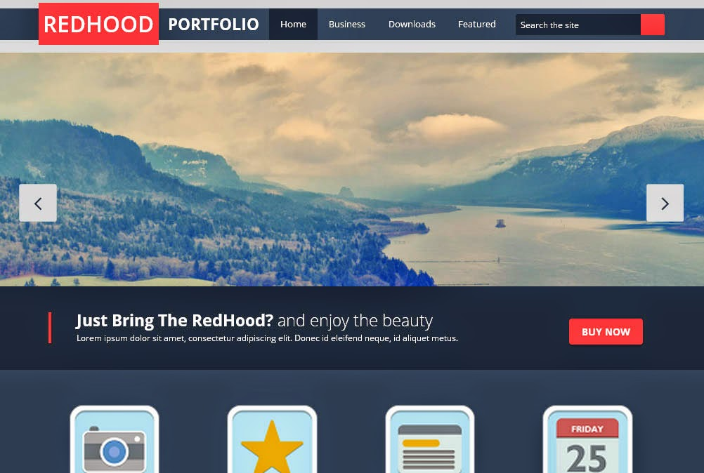 Redhood Responsive Blogger Template
