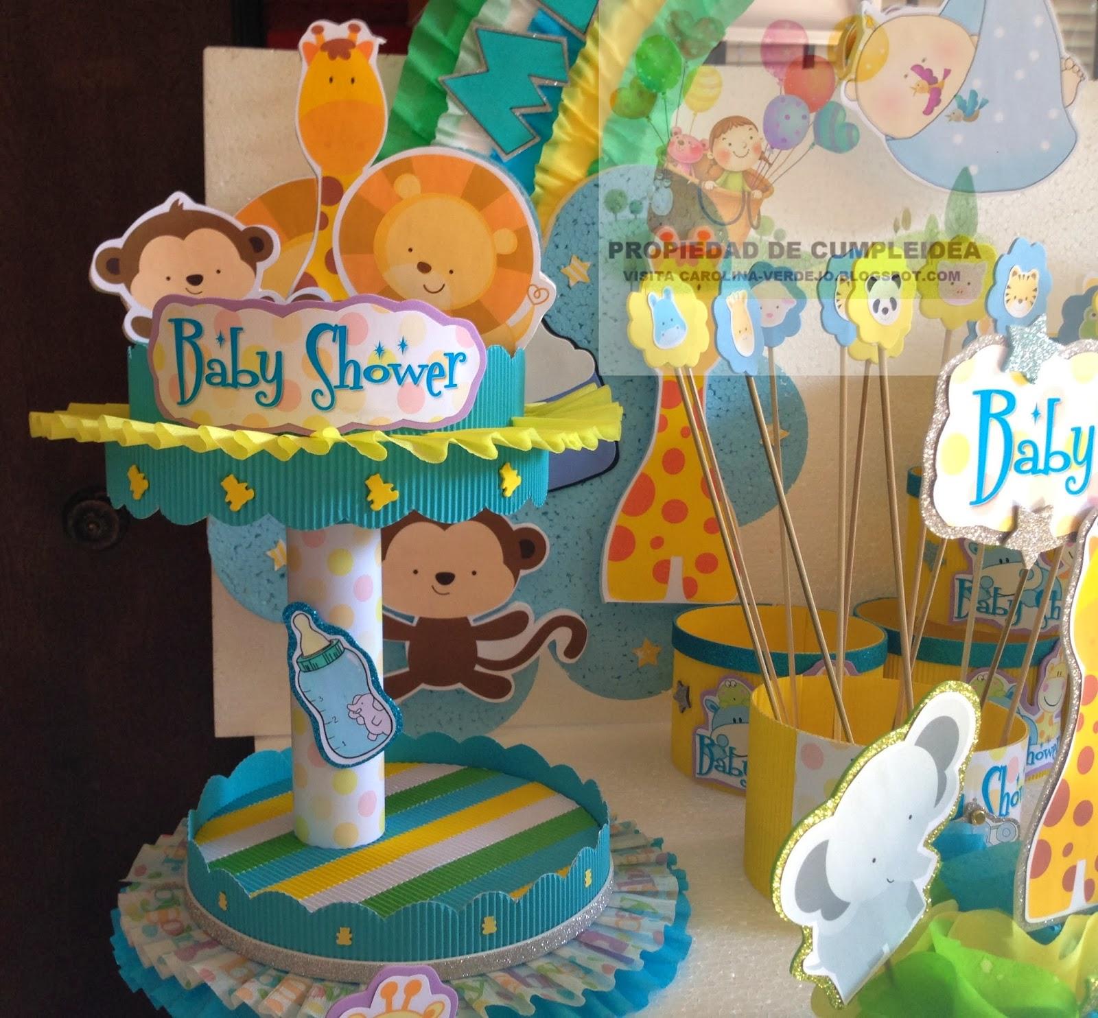 Decoraciones infantiles baby shower animalitos bb for Decoraciones infantiles para ninos