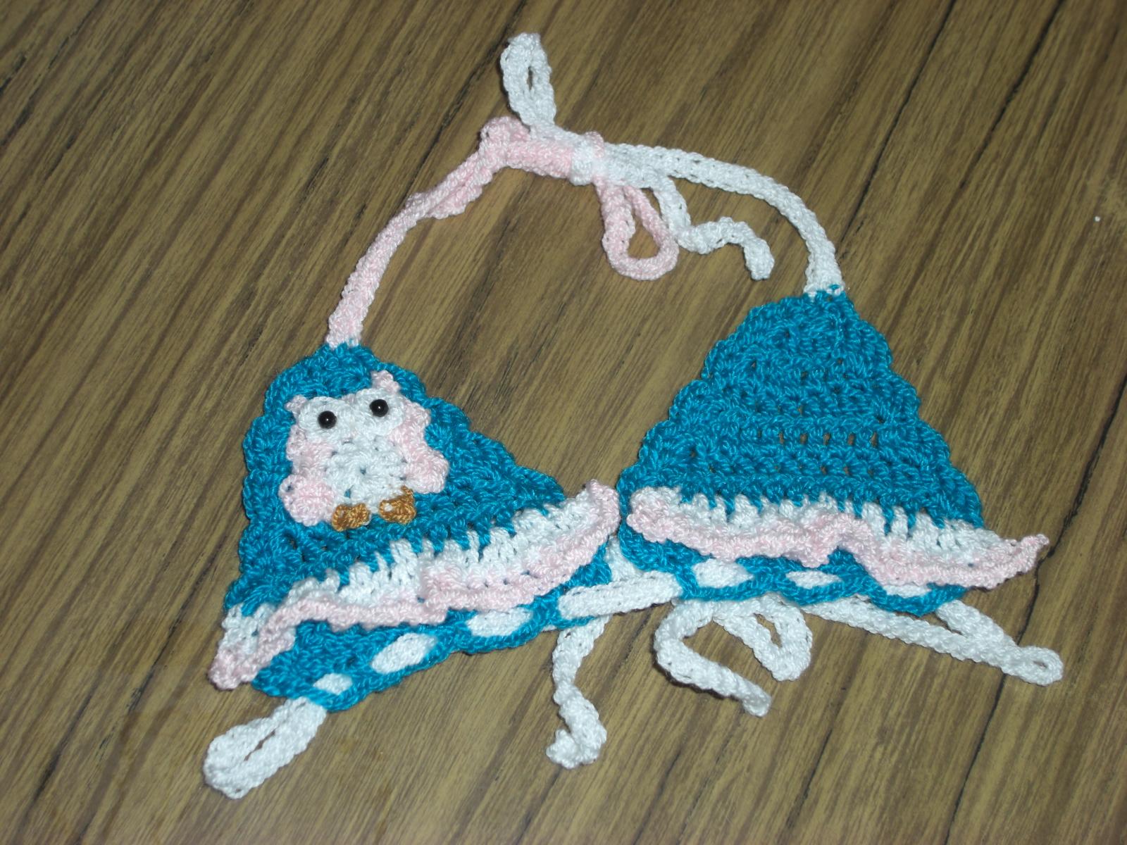 Set De Baño En Crochet Con Una Aguja: les traigo este traje de baño para una niña de 1 año que me fue
