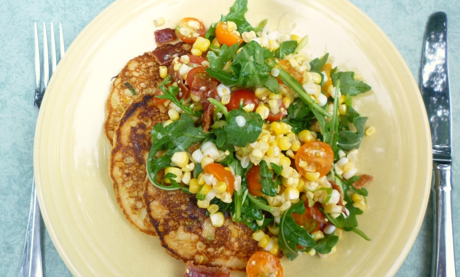 Arugula Corn Salad With Bacon Recipes — Dishmaps