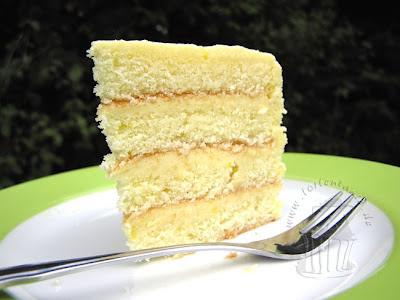 Torte gefüllt mit Lemon Curd