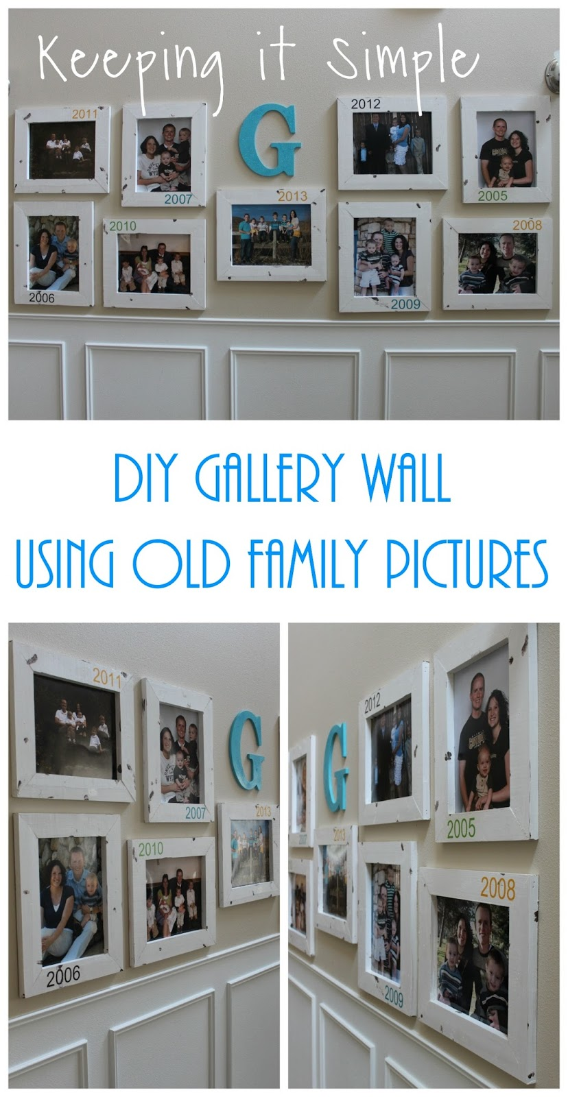 Diy Gallery Wall With Old Family Pictures Keeping It Simple