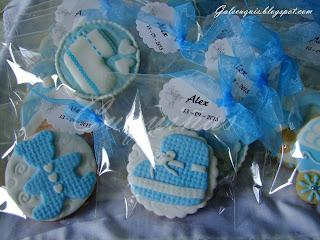 Galletas bebé azul