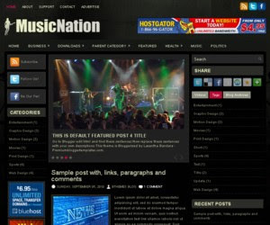 Music Nation Blogger Template