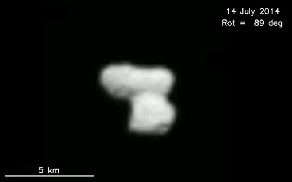 Wahana Antariksa Rosetta Potret Komet 67P pada Jarak Dekat